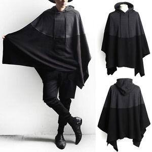 Fashion-Poncho-Alpaca-Mens-Man-Hooded-Wool-Jacket-Cloak-Cape-Handmade-Sweater