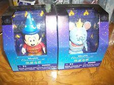 "Lot of 2 Disney Vinylmation Dumbo & Mickey Sorcerer 3"" Hong Kong Exclusive"