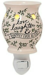 "/""Love /& Laughter/"" happily ever after Electric Plug in Wax Warmer//Burner"