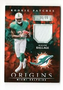 KALEN BALLAGE NFL 2018 PANINI ORIGINS ROOKIE PATCHES #/75 (DOLPHINS,STEELERS)