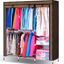 Zebra Clothes Hanging Wardrobe Z16B8 Closet Armoire Organizers Cabinet 2 Colours