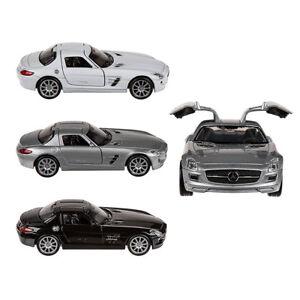 Modellauto Mercedes Benz SLS AMG Rückzug Rückzieh Motor 1:39 Metall NEX