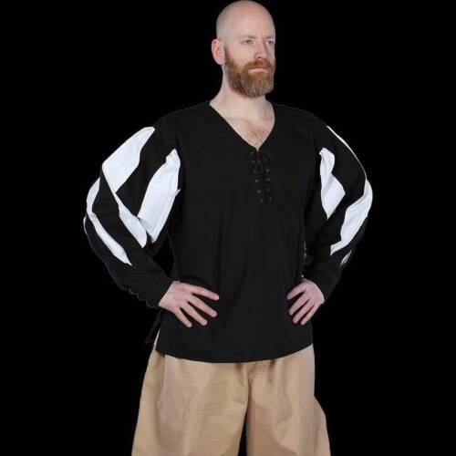 MEDIEVAL FANTASY Mercenary Mens LANDSKNECHT Cotton Canvas Long Sleeve SHIRT New