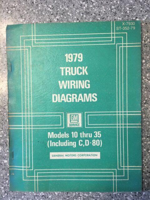 1979 CHEVROLET GMC TRUCK 10-35 PICKUP SHOP MANUAL WIRING ...
