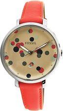 Fossil Women's Jacqueline ES4134 Red Leather Quartz Fashion Watch