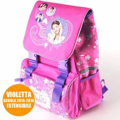 Zaino Estensibile Violetta My Song Disney Channel Scuola Bambine Elementari