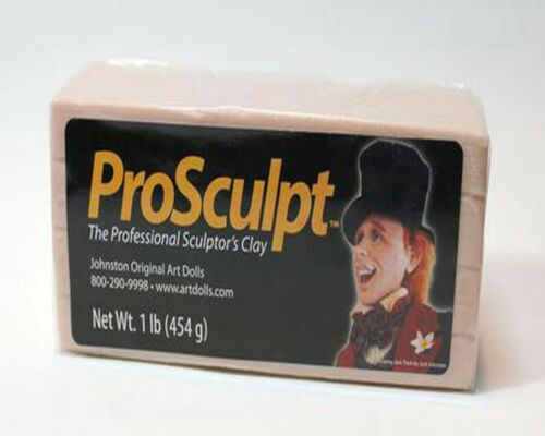 1 case ProScuLpt PoLymEr ClaY 12 1lb bars of Beige