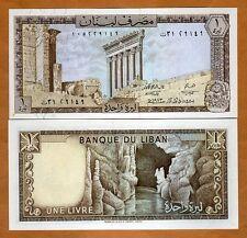 Lebanon, 1 Livre, 1973, P-61 (61b), UNC