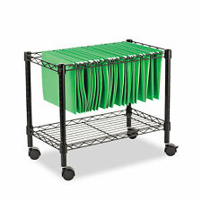 Alera Single Tier Rolling File Cart 24w X 14d X 21h Black Fw601424bl