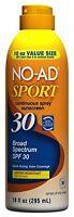 No-ad Sport Continuous Spray Sunblock Spf 30 10 Oz Each on sale