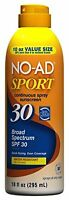 No-ad Sport Continuous Spray Sunblock Spf 30 10 Oz Each