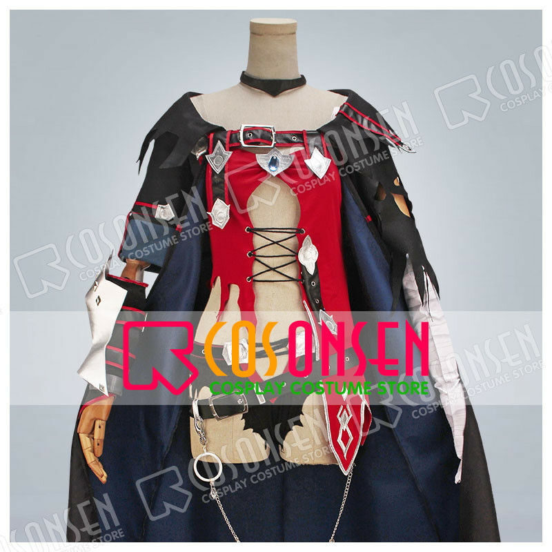 Game Tales of Berseria Velvet Crowe Cosplay Costume Custom Made Any Size