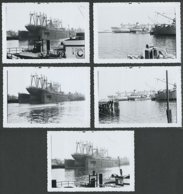 Richmond? CA: Five 1962 Photos TODD SHIPYARDS, Dry Dock, SS Phillipine Mail