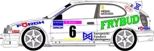 D43006 #6 FRYCZ RALLYE WALDVIERTEL 2002 DECALS 1//43 TOYOTA COROLLA WRC