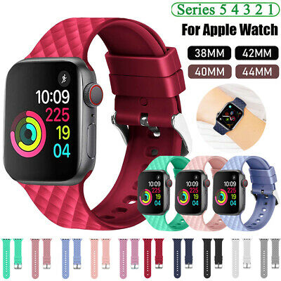 Silicone Sports Watch Band Strap For Apple Watch 5 4 3 2 1 Iwatch 40 44 38 42mm Ebay