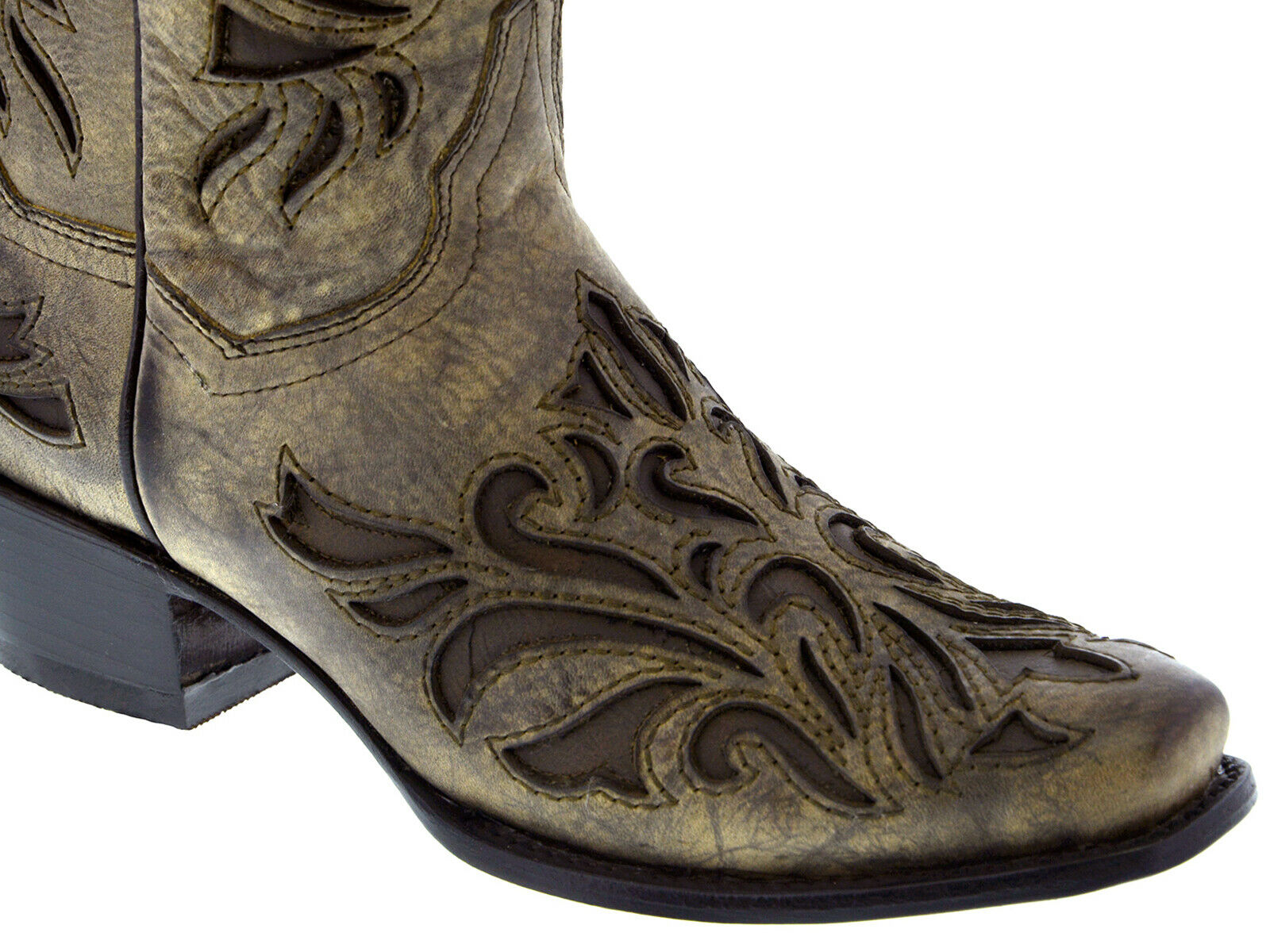 Womens Brown Overlay MYS5 Leather Cowboy Cowboy Cowboy Cowgirl Boots 573c51
