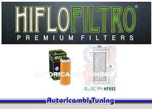 FILTRO-OLIO-HIFLO-HF652-MOTO-KTM-EXC-R-530-cc-anni-2008-2009