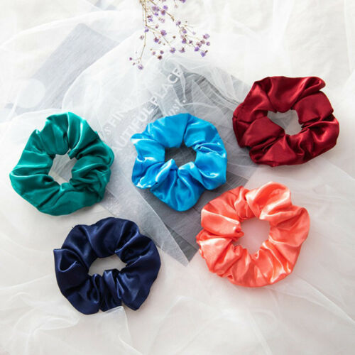 40x Silk Hair Scrunchies Elastic Hair Bobble Girls Headwear Hair Ponytail lot