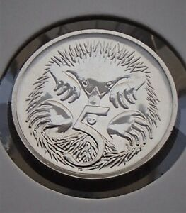 1995-Australia-Five-5-Cent-Specimen-Coin-Ex-Mint-Set-Choice-Uncirculated