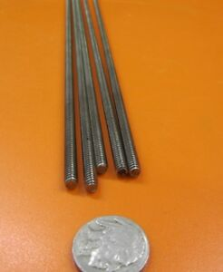 6-32 x 3 Foot Length RH Low Strength Threaded Steel Rods 10 Units
