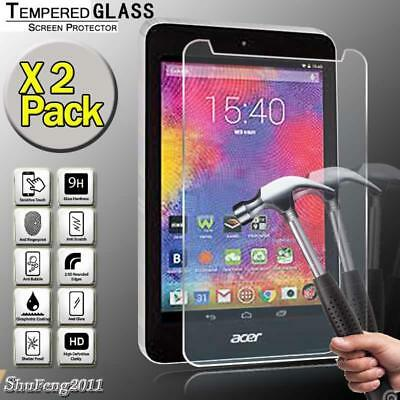 """2 Pack Tempered Glass Screen Protector For Acer Iconia One 7 B1-750 7/"""" Tablet"""