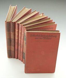 Buecher-Bibliothek-der-Unterhaltung-um-1910-1932