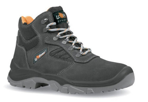 Size 3-13 Mens U Power Real S1P SRC Leather Steel Toe Cap Safety Work Boots