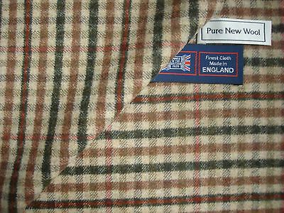 """100%PURE NEW WOOL TWEED FABRIC """"Milled Flannel""""MADE IN HUDDERSFIELD ENGLAND-1.9m"""