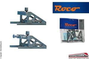 ROCO-42267-H0-1-87-Kit-paraurti-di-fine-binario-con-tavola-di-legno-oppure-r