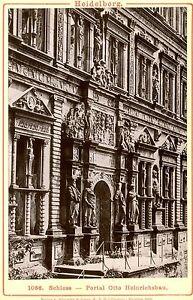 Vintage-Cabinet-Card-Heidelberg-Castle-Door-of-Otto-Heinrichbau-Germany