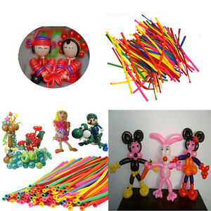 200X-Colorful-Magical-DIY-Long-Twist-Latex-Balloons-Tying-Making-Decoration-HG