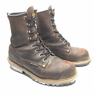 """Carolina Men/'s 8/"""" Waterproof Steel Toe Logger 9821"""