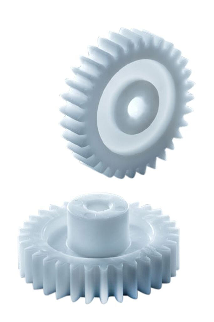 42 Zähne Zahnrad Stirnrad KS aus Kunststoff Polyacetal Bohrung Ø4 Modul 0.5
