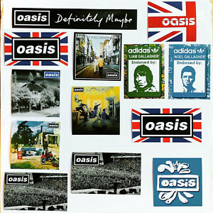33 x Oasis Stickers - Liam Noel Gallagher Poster Pretty Green Definitely Maybe