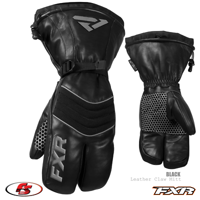 Black - 2X-Large FXR Leather Claw Mitt 2020