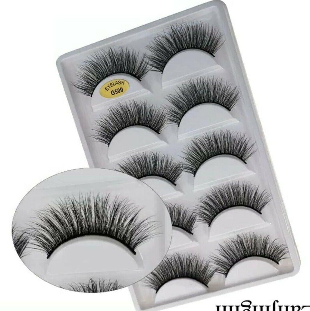 3D Mink Eye Lashes 5 pairs natural loang false lashes