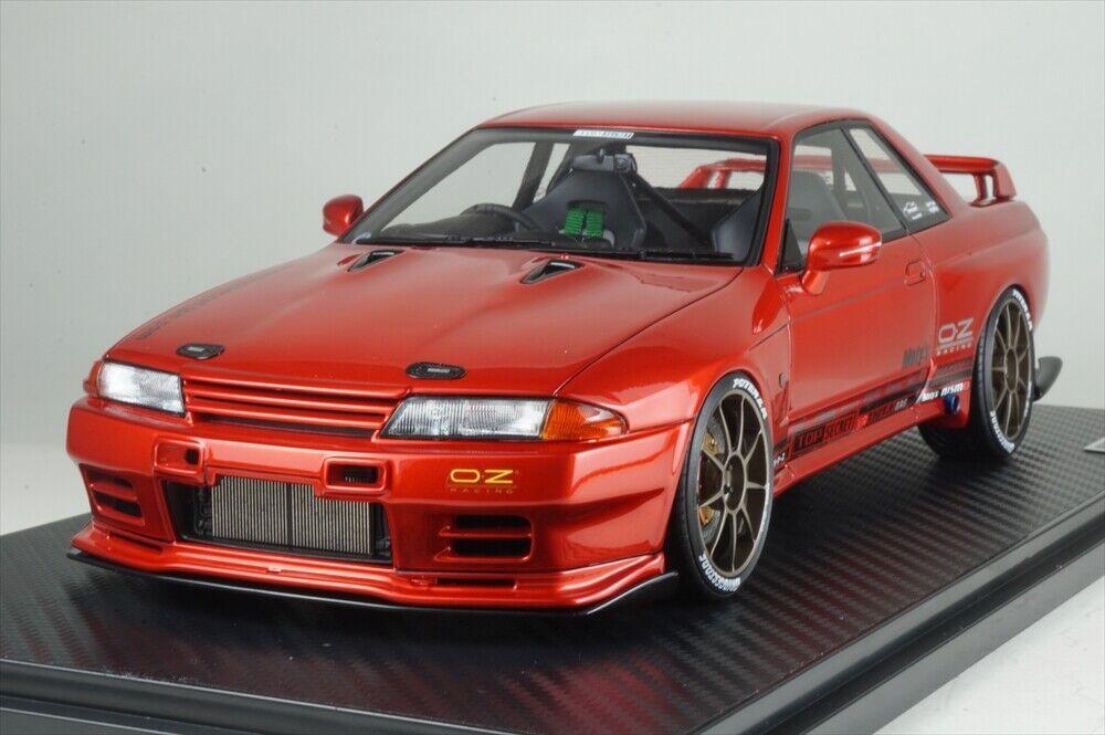 IG1524 ignition modellolo 1 18 Nissan TOP SECRET GT-R VR32 rosso Mettuttiic modellolo autos