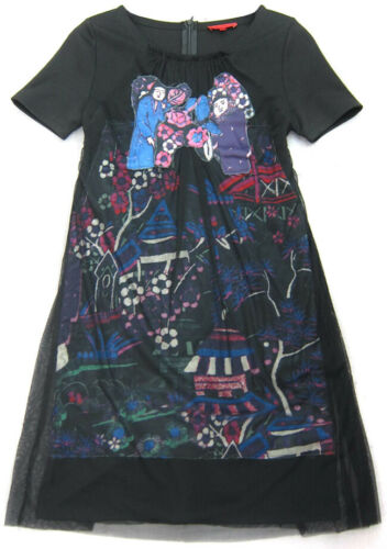 Vivienne Tam Mesh Dress Black Size M