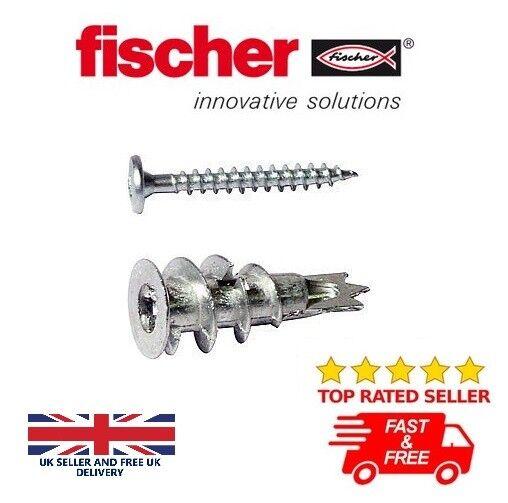 FISCHER GKM FIXINGS PLASTER BOARD DOWEL Ø 4-5 X 31MM FIXINGS SCREWS INCLUDED