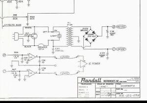 Magnificent Randall Instruments Rk 120 115H Keyboard Amplifier Original Wiring 101 Ferenstreekradiomeanderfmnl