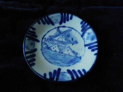 Keramik Kuchenteller Blau Weiss, Windmühle, Für Puppenstube, Puppenzubehör Guter Geschmack