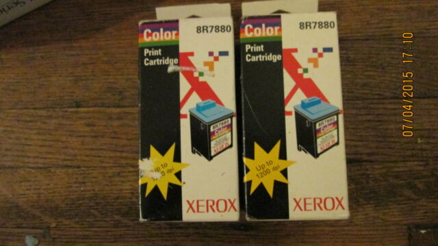 2 New Genuine Xerox 8R7880 Color Ink Cartridges - Retail Packages