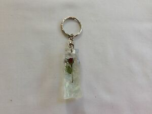 KEY-RING-RECTANGLE-PENCLE-HAND-MADE-WITH-REAL-ROSES