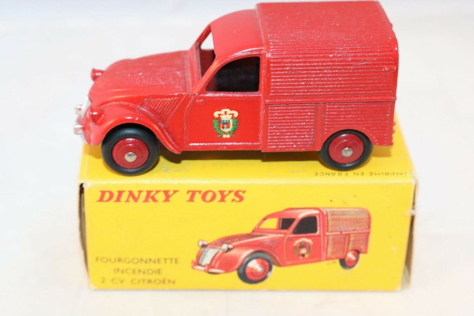 Dinky Toys 25D 25 D Fourgonnette 2 CV Citroen Incendie mint in box a beauty