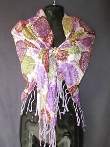 Gorgeous-Purple-Fringed-Floral-Scarf-Muted-Coral-Green-Lavender-Large-SQUARE-39