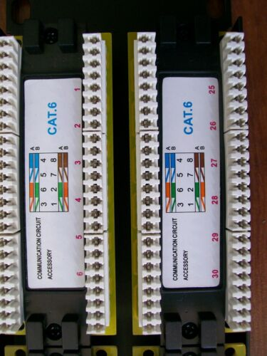 CAT6 48 PORT PATCH PANEL W// 2U HINGED WALL BRACKET TIE WRAPS NEW SQUARE NUTS