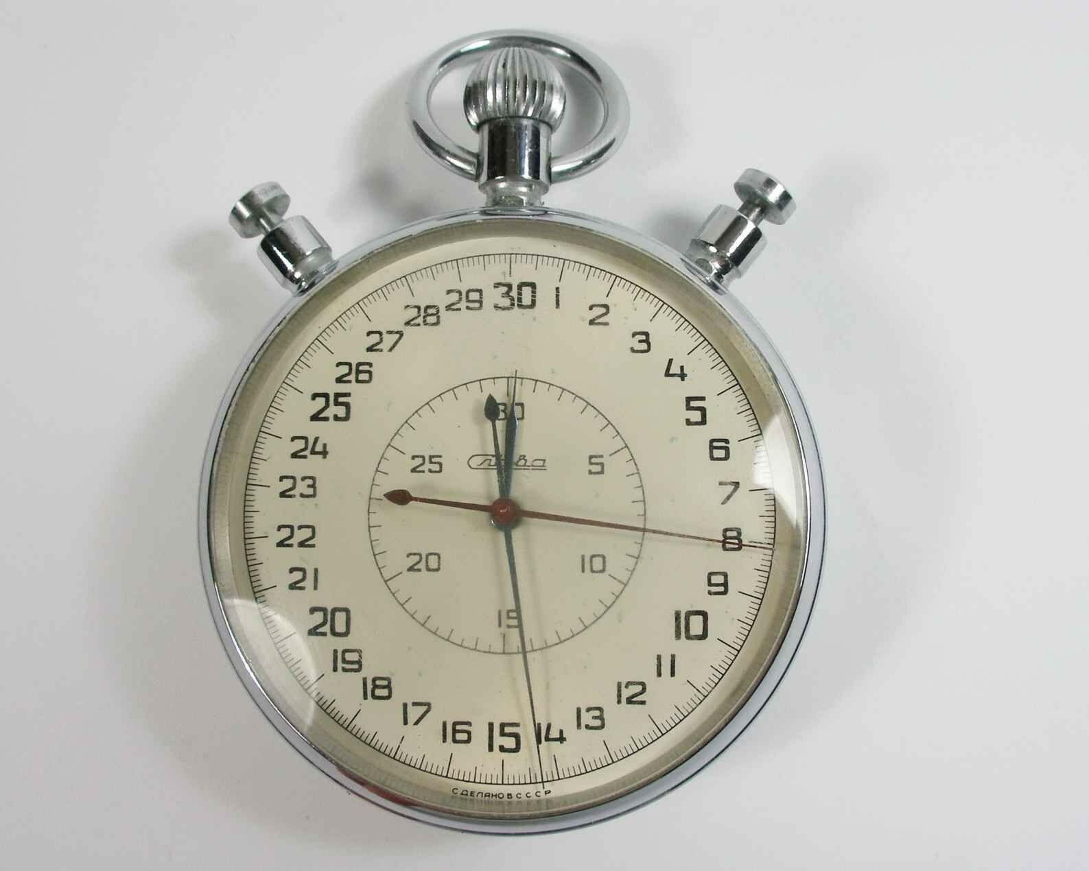 SLAVA Russian Soviet Stop Watch Mechanical stopwatch USSR (sl14)