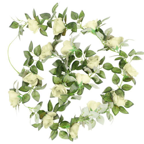 2.2m Artificial Fake Rose Flowers Vine Garland Wedding Party Home Decor Surprise