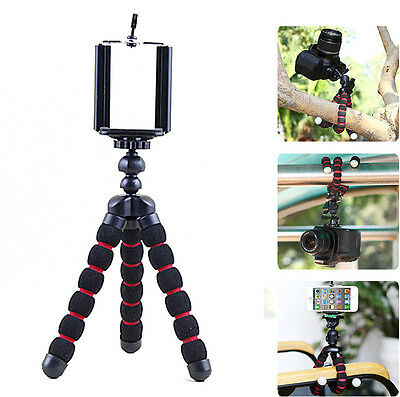 Octopus Stand Tripod Mount + Phone Holder for iPhone Cell Phone Digital Camera
