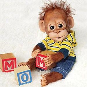 Playtime-With-Charlie-8-039-039-Monkey-by-Ashton-Drake-NRFB